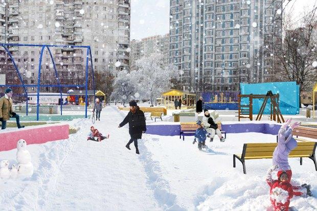 UrbanUrban и «Вышка» обустроят двор в Тропарёве-Никулине. Изображение № 3.