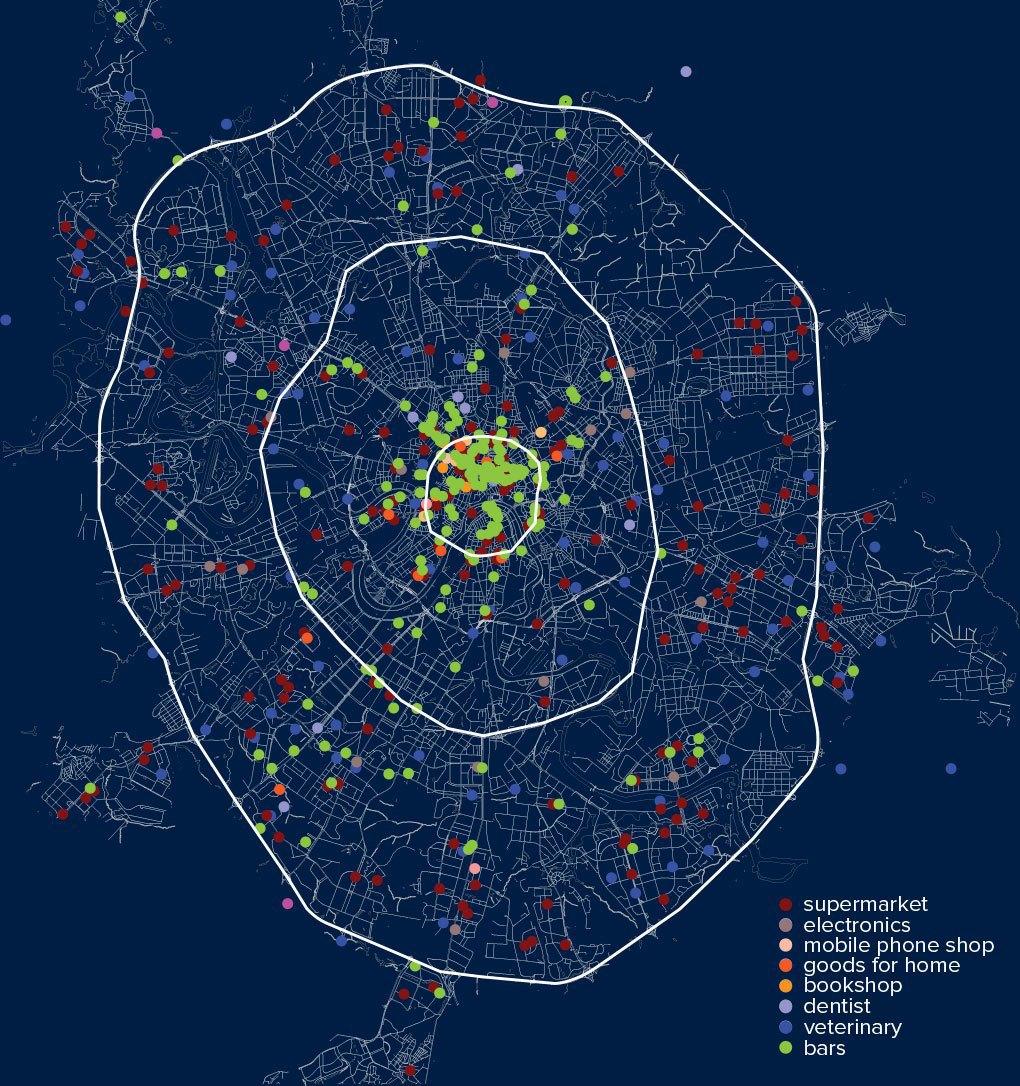 Распределение круглосуточных магазинов, клиник и баров по округам Москвы.. Изображение № 30.