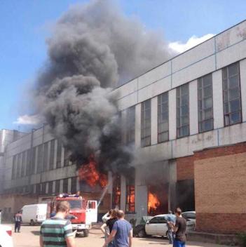 На территории завода ЗИЛ начался пожар (обновлено). Изображение № 2.