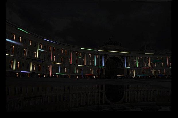 На ночь глядя: 12 проектов подсветки Главного штаба. Изображение № 39.