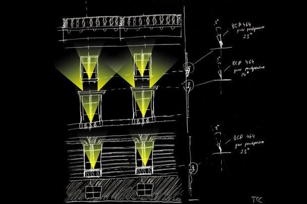 На ночь глядя: 12 проектов подсветки Главного штаба. Изображение № 35.