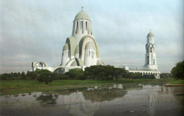Храм изпарка «Малиновка» построят научастке, предусмотренном для больницы . Изображение № 1.