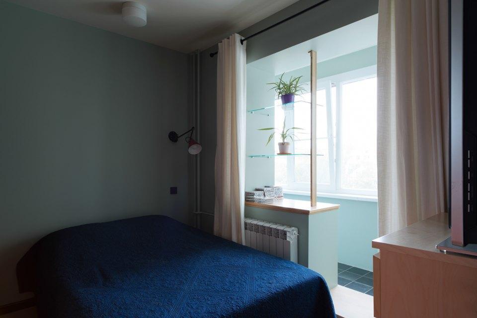 Однокомнатная холостяцкая квартира сумным зонированием. Изображение № 7.