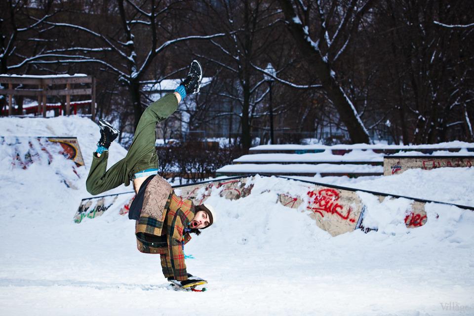 Люди в городе: Где катаются скейтеры зимой. Изображение №4.