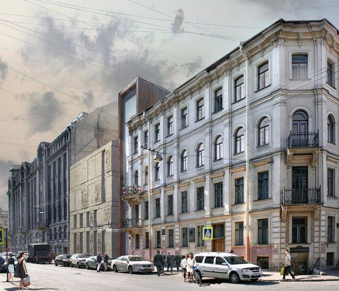 Появился проект современной пристройки для музея Достоевского. Изображение № 5.
