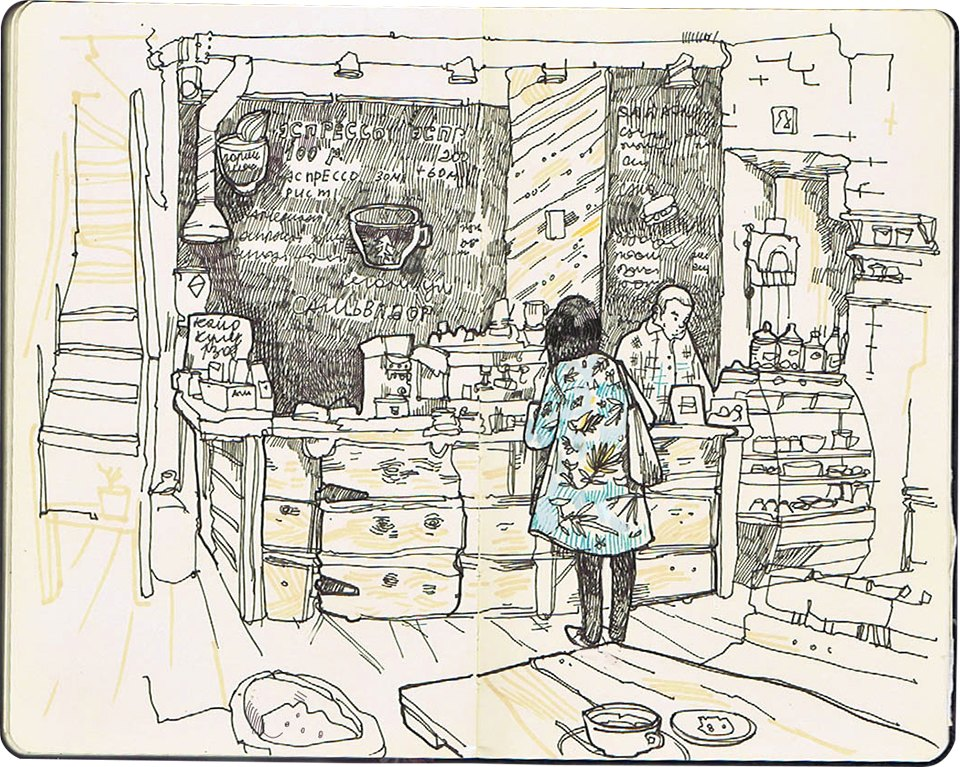 Клуб рисовальщиков: Кофейня LES. Изображение №2.
