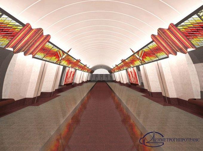 Опубликованы эскизы вестибюлей станции «Проспект Славы». Изображение № 4.