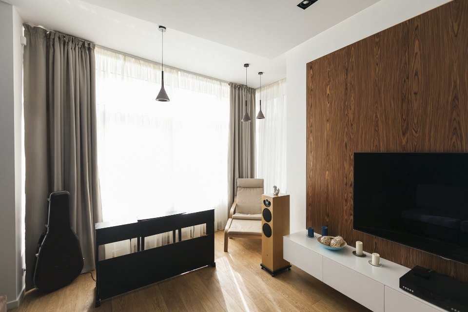 Трёхкомнатная квартира сотделкой изнатуральных материалов . Изображение № 5.