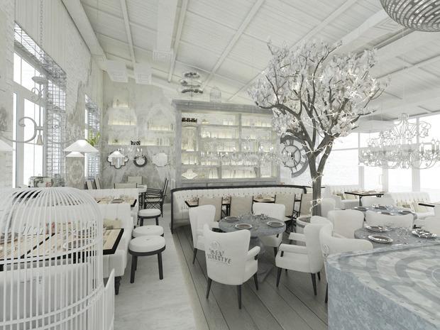 На «Пушкинской» открылся бар-ресторан «Счастье» на крыше. Изображение № 2.