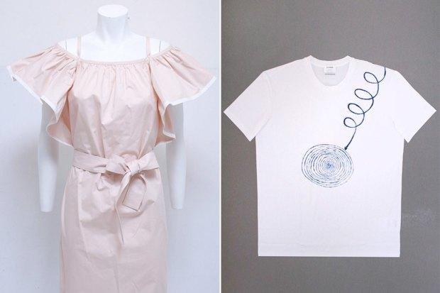 Платье Chloe за 26035 рублей со скидкой 50%, футболка Jil Sander за 4920 рублей со скидкой 50%. Изображение № 3.