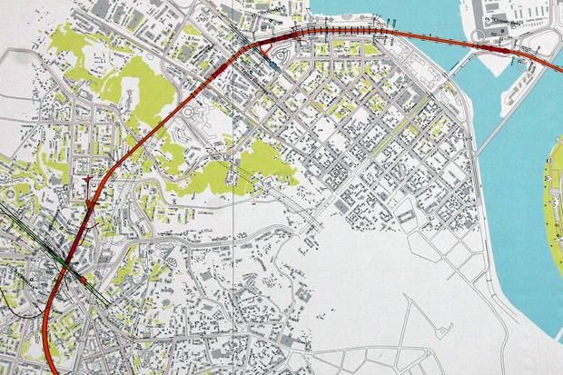 Схема линии метро по Подолу
