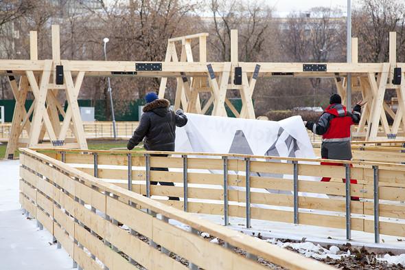 В парке Горького залили каток. Изображение № 2.