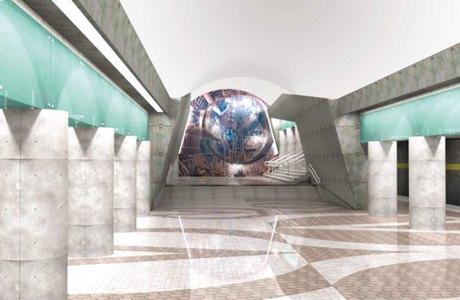 В сети появились эскизы станций коричневой ветки метро. Изображение № 2.