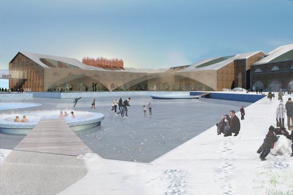 Зимний каток в центре острова согласно концепции бюро Work AC. Иллюстрация: «Ирис Новая Голландия». Изображение № 41.