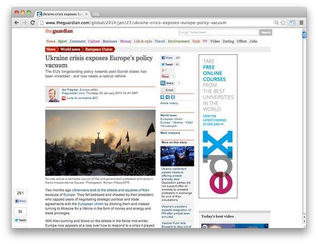 Взгляд со стороны: Западные СМИ — о событиях на Украине. Изображение № 3.