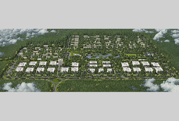 Территория Bionic Hill с высоты птичьего полета. Изображение № 3.