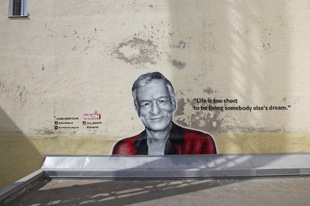 Авторы портретов Цоя иЭйнштейна— об идее легализовать граффити вПетербурге. Изображение № 5.