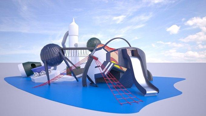На ВДНХ появится детская площадка смоделями космических кораблей. Изображение № 2.