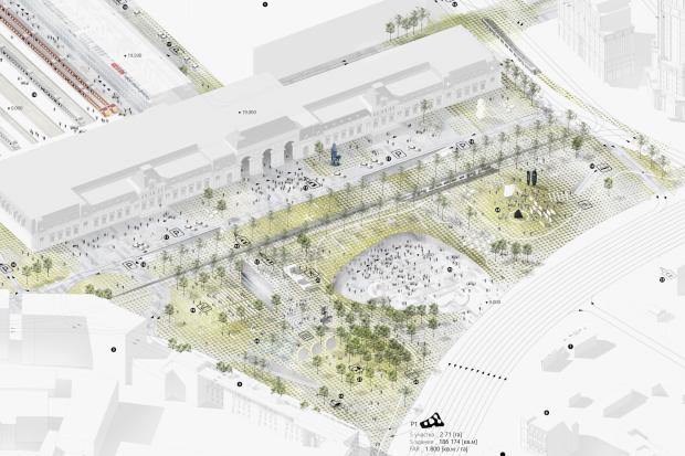На Павелецкой площади появятся подземный центр итерминал «Аэроэкспресса». Изображение № 5.