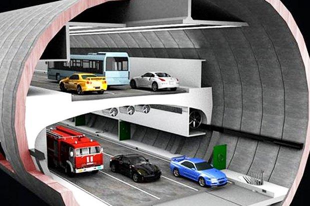 На Северо-Западной хорде построят двухэтажный туннель. Изображение № 1.