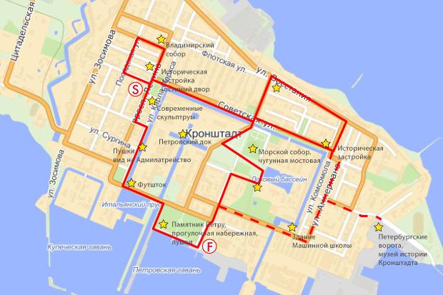 Предполагаемая схема пешеходного маршрута «Красная линия». Изображение № 22.