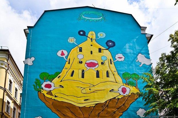 Сине-жёлтая Москва: Городские объекты вцветах флага Украины. Изображение № 5.