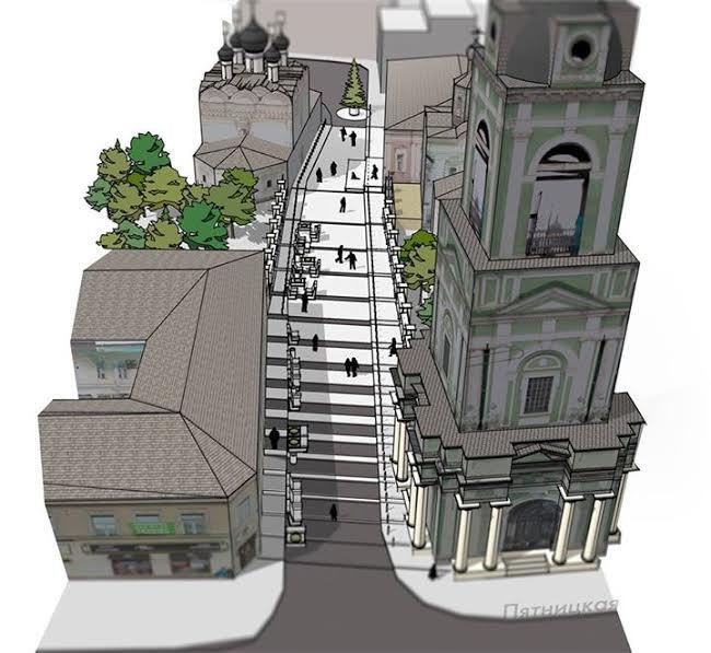 Черниговский переулок сделают пешеходным иперекрасят вбелый цвет. Изображение № 2.