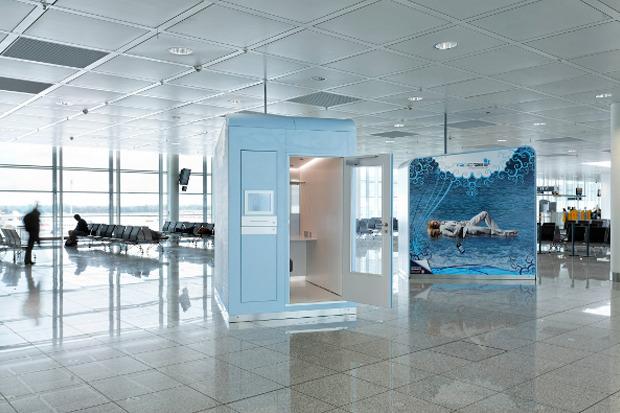 Кабина для отдыха в Мюнхенском центральном аэропорту. Изображение № 17.