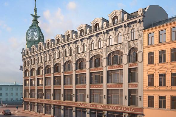 «Магазинъ у Краснаго моста» на Мойке откроется в декабре. Изображение № 1.