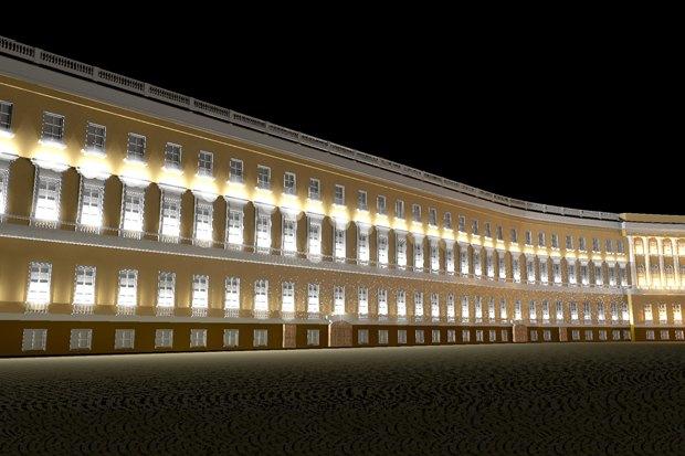 На ночь глядя: 12 проектов подсветки Главного штаба. Изображение № 36.