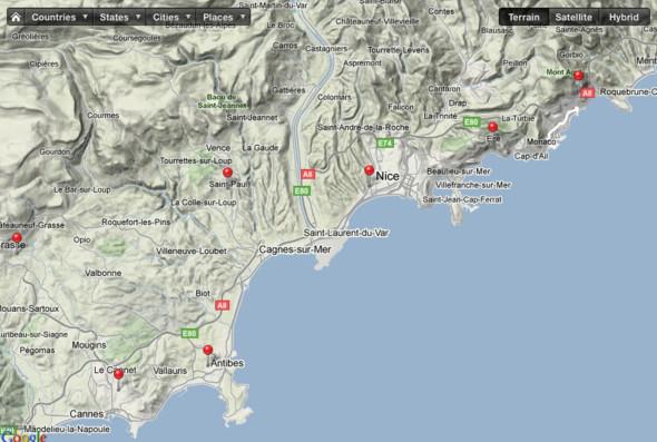 Карта южного побережья Франции. Изображение № 1.