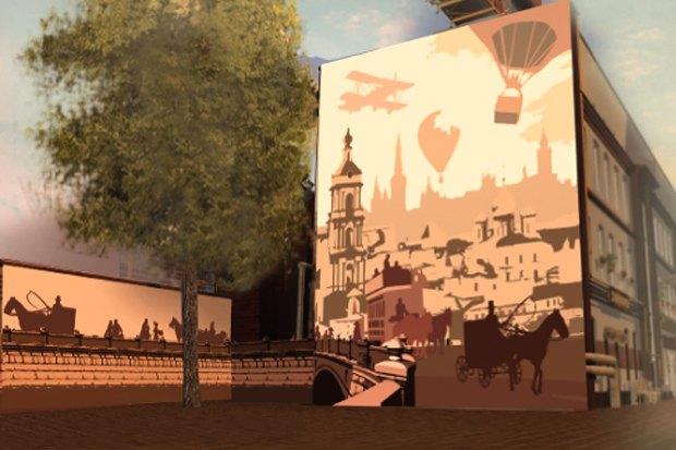 У «Менделеевской» появятся пешеходные зоны в стиле ретро. Изображение № 4.