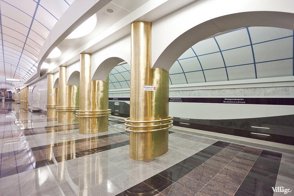 Фоторепортаж: Станции метро «Международная» и«Бухарестская» изнутри. Изображение № 27.