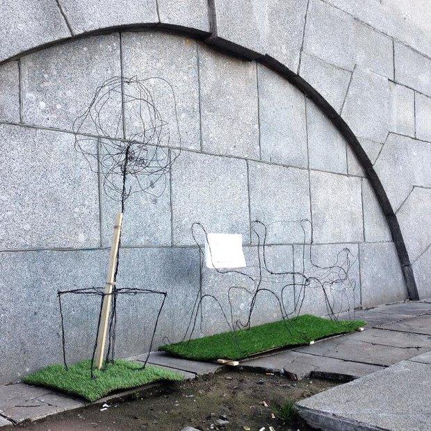 На набережной Обводного канала установили партизанские арт-объекты . Изображение № 3.