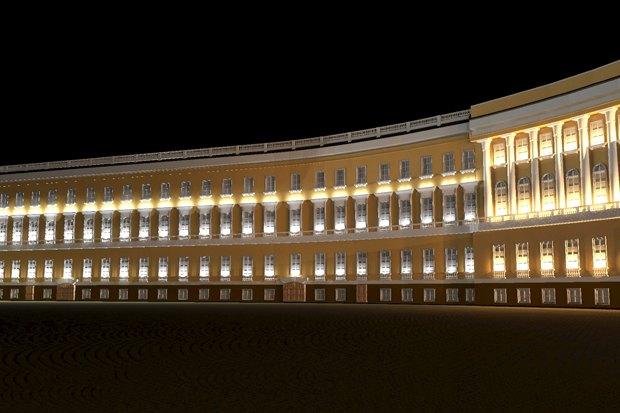На ночь глядя: 12 проектов подсветки Главного штаба. Изображение № 37.