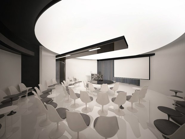 Студенты архитектурных вузов представили проекты интерьеров «Лахта-центра». Изображение № 6.