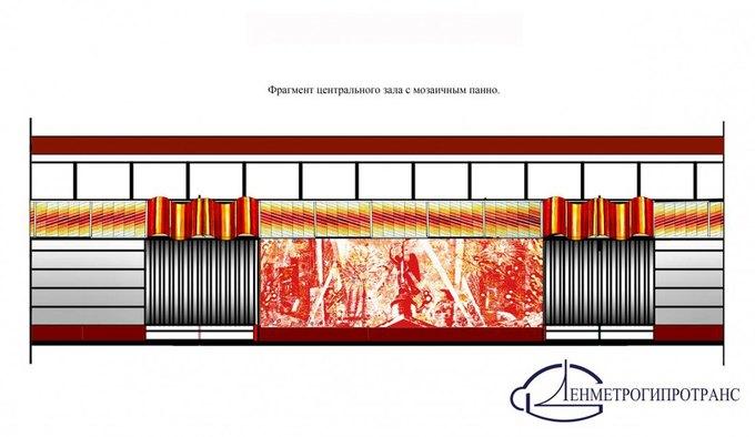 Опубликованы эскизы вестибюлей станции «Проспект Славы». Изображение № 5.