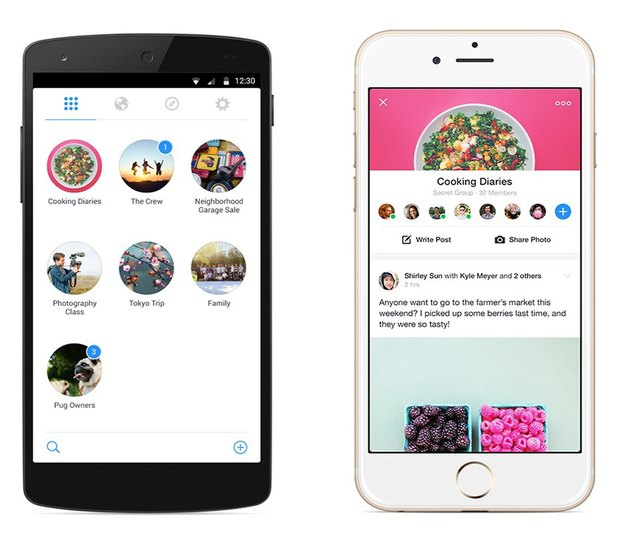 Facebook выпустили новое приложение для работы сгруппами. Изображение № 1.