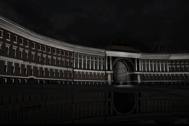 На ночь глядя: 12 проектов подсветки Главного штаба. Изображение № 42.