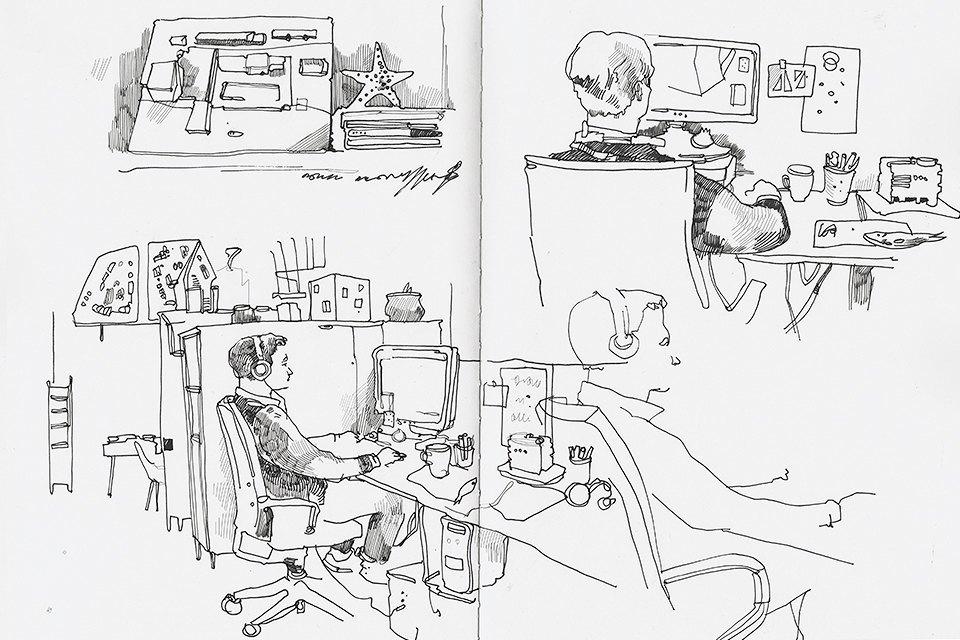 Московские офисы врисунках Лизы Смирновой. Изображение № 9.