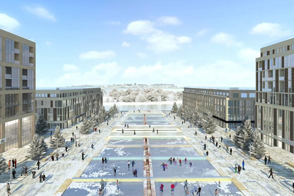 Архитектурная концепция многофункционального комплекса в Омске, архитектурная мастерская «Speech Чобан & Кузнецов». Изображение №3.