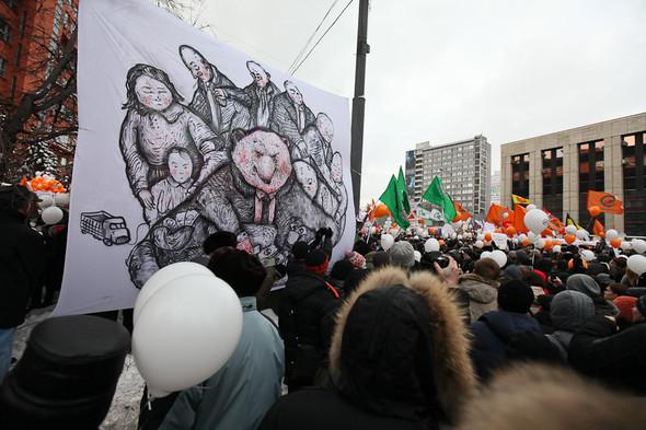 Митинг «За честные выборы» на проспекте Сахарова: Фоторепортаж, пожелания москвичей и соцопрос. Изображение № 20.