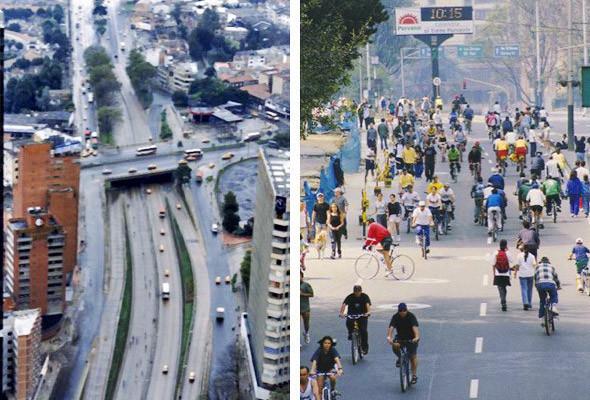 Один день в году в Боготе все дороги полностью освобождают от автомобилей. Разрешено ездить только автобусам и такси.. Изображение № 58.