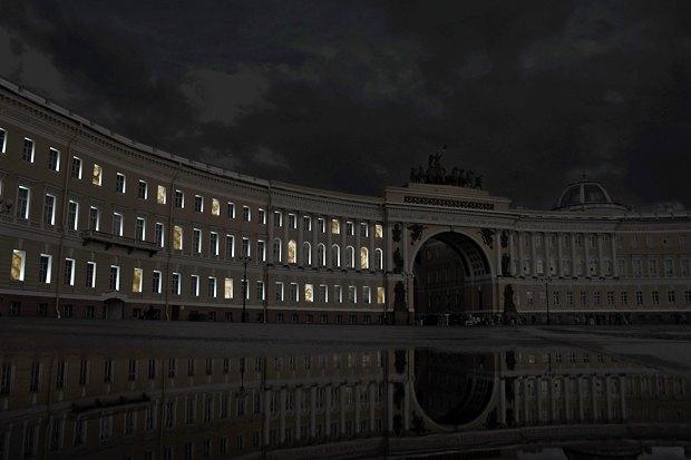 На ночь глядя: 12 проектов подсветки Главного штаба. Изображение № 87.