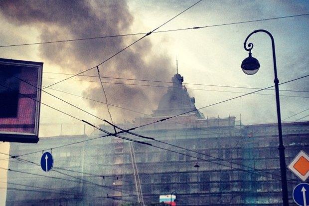 Фото дня: Пожар в Технологическом институте. Изображение № 3.