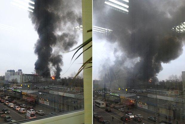 Навостоке Москвы горит автосервис (обновлено). Изображение № 2.