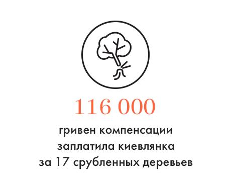 Цифра дня: Компенсации за срубленные деревья. Зображення № 1.