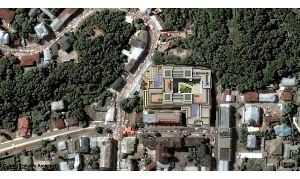 Торгово-офисный центр разместится на площади в 0,98 га и займет практически весь квартал. Изображение № 4.