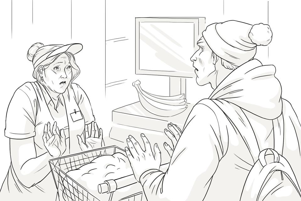 Продавец всетевом супермаркете. Изображение № 2.