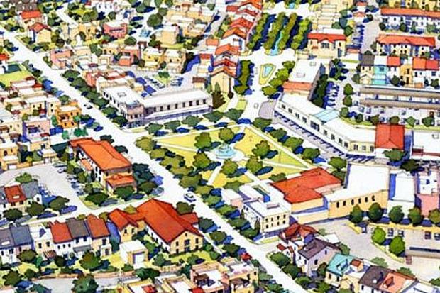 Эскиз города-спутника «Южный». Изображение № 1.